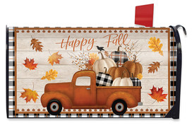 Happy Fall Pickup Truck Mailbox Cover