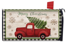 Merry Christmas Pickup Truck Mailbox Cover