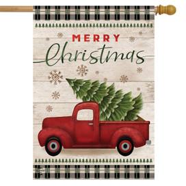 Merry Christmas Pickup Truck House Flag