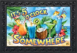 5 O'Clock Cocktails Summer Doormat