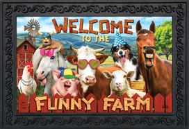 Funny Farm Summer Doormat