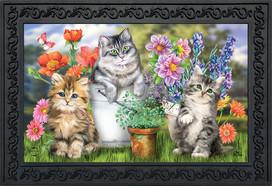 Garden Cats Spring Doormat