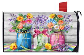 Spring Floral Jars Rustic Mailbox Cover