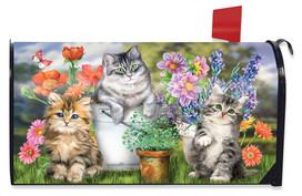 Garden Cats Spring Mailbox Cover