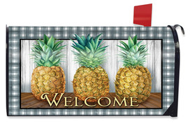 Checkered Pineapple Everyday Mailbox Cover