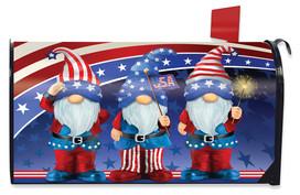Patriotic Gnomes Mailbox Cover