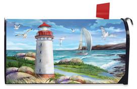 Coastal Lighthouse Summer Mailbox Cover