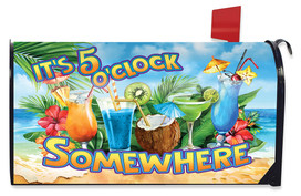 5 O'Clock Cocktails Summer Mailbox Cover