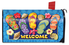 Paradise Flip Flops Summer Mailbox Cover