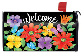 Whimsy Flowers Spring Mailbox Cover