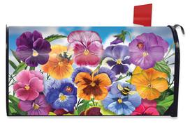Pansies Spring Mailbox Cover