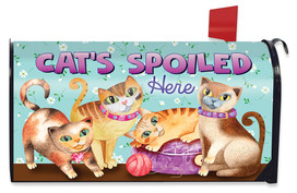 Cats Spoiled Here Humor Mailbox Cover