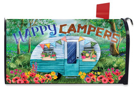 Spring Happy Campers Floral Mailbox Cover