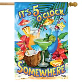 5 O'Clock Cocktails Summer House Flag