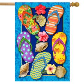 Paradise Flip Flops Summer House Flag
