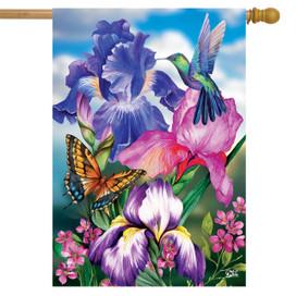 Irises Spring House Flag