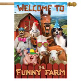 Funny Farm Summer House Flag