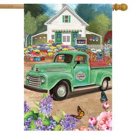 Flower Farm Spring House Flag
