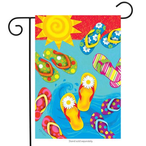 Fun in the Sun Flip Flops Summer Garden Flag