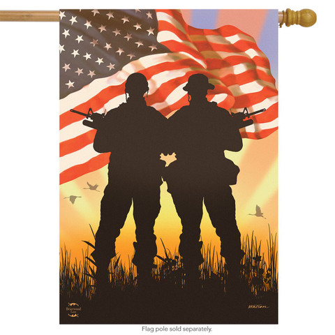 American Heroes Patriotic House Flag