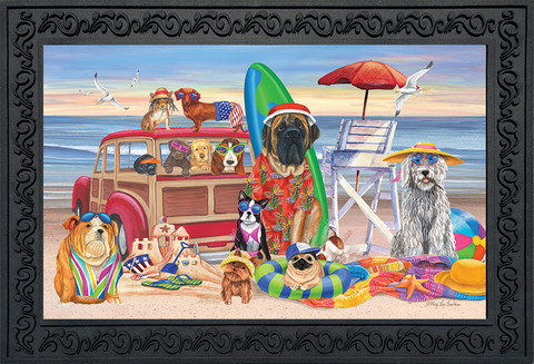 Dog Days of Summer Nautical Doormat