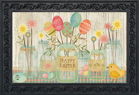 Spring Egg Bouquet Easter Doormat