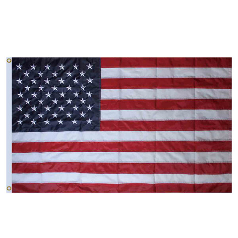 American Flag Embroidered Grommet Flag