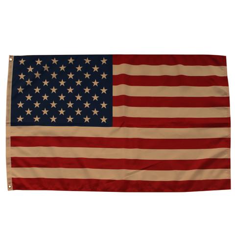 Tea Stained American Flag Grommet Flag