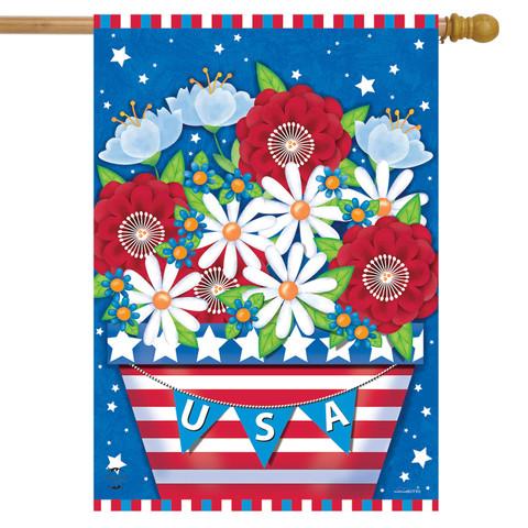 American Planter Primitive House Flag