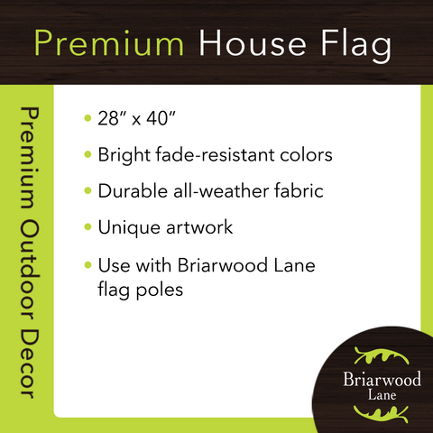 Stand Proud Patriotic House Flag