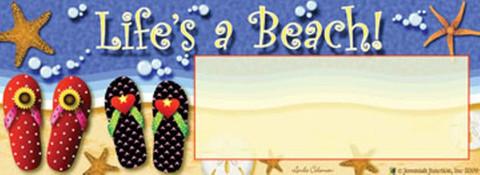 Life's A Beach! Mailbox / Door Magnet
