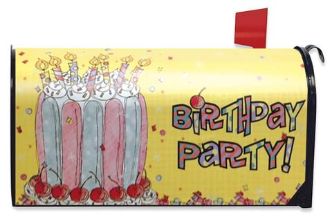 Cherry Birthday Cake Mailbox Cover