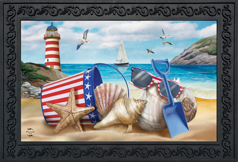 Sea To Shining Sea Summer Doormat