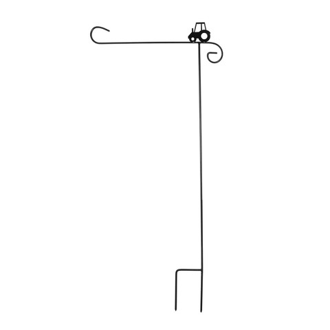 Briarwood Lane Wrought Iron Tractor Garden Flag Stand