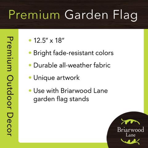 Welcome Frog Burlap Spring Garden Flag