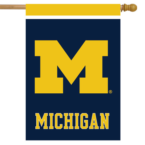 Michigan Wolverines NCAA House Flag