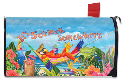 5 O'clock Parrot Summer Magnetic Mailbox Cover