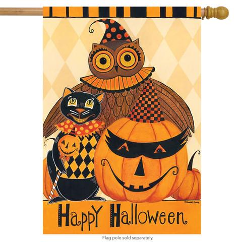 Halloween Party Primitive House Flag