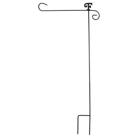 Briarwood Lane Monogram Letter F Garden Flag Stand