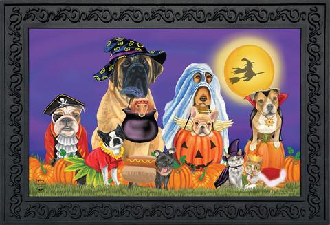 Trick or Treat Dogs Halloween Doormat