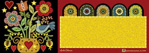Pennyrug Hearts & Flowers Primitive Mailbox / Door Magnet