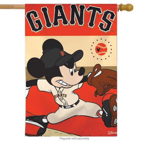 San Francisco Giants MLB Mickey Mouse Baseball House Flag