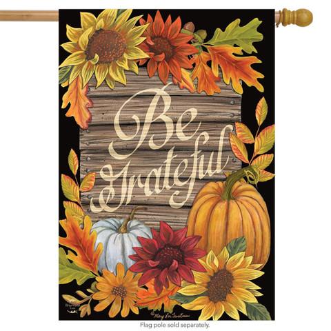 Be Grateful Autumn House Flag