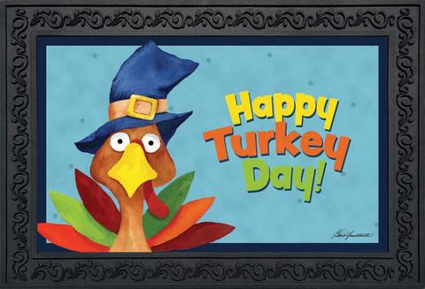 Turkey Day Thanksgiving Doormat