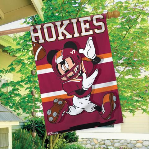 Virginia Tech Hokies NCAA Mickey Mouse House Flag