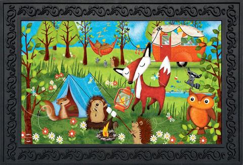 Wilderness Camp Summer Doormat