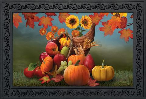 Bountiful Cornucopia Autumn Doormat