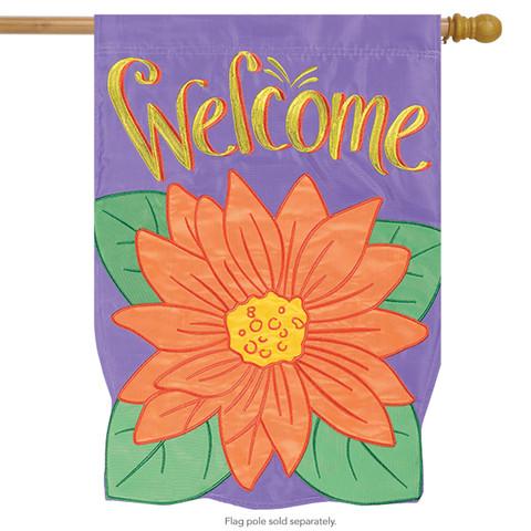 Gerbera Bloom Welcome House Flag