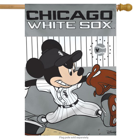 Chicago White Sox MLB Mickey Mouse Baseball House Flag