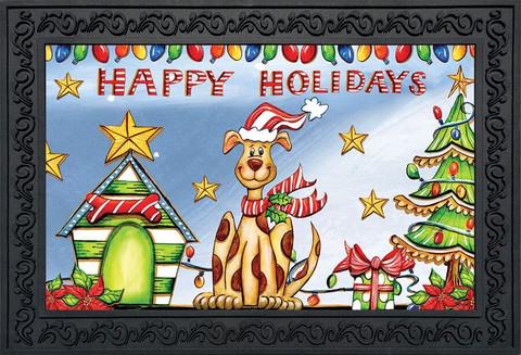 Happy Holidays Dog Doormat